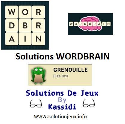 06 wordbrain grenouille solutions