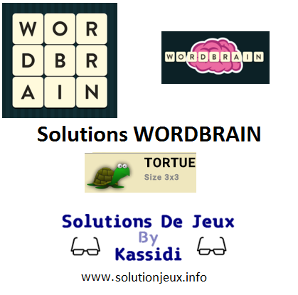 07 wordbrain tortue solutions