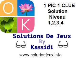 1 pic 1 clue solution niveau 1-2-3-4