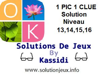 1 pic 1 clue solution niveau 13-14-15-16