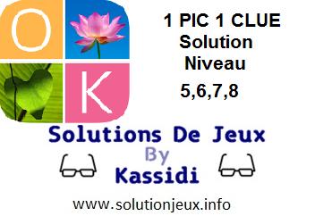 1 pic 1 clue solution niveau 5-6-7-8