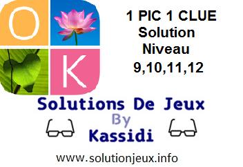 1 pic 1 clue solution niveau 9-10-11-12