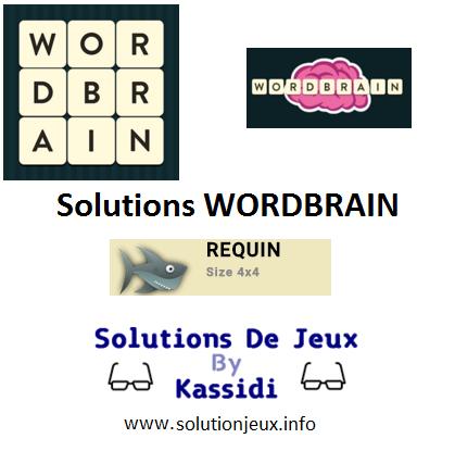 12 Wordbrain requin solutions