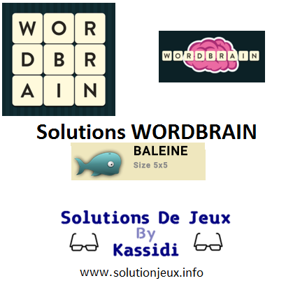 15 wordbrain baleine solutions
