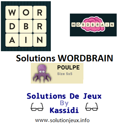16 wordbrain poulpe solutions