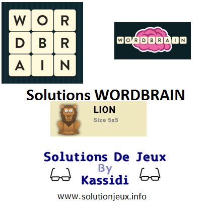 18 wordbrain lion solutions