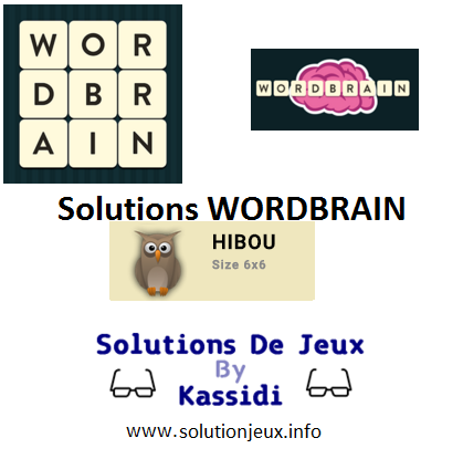20 wordbrain hibou solutions
