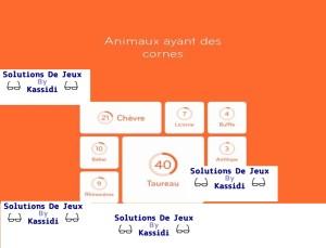 solution 94 animaux avec des cornes