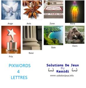 Pixwords solutions mots à 4 lettres info 1
