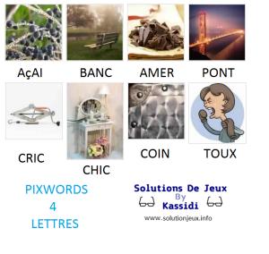 Pixwords solutions mots à 4 lettres info 17