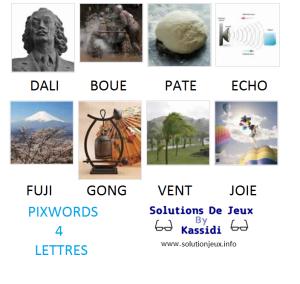 Pixwords solutions mots à 4 lettres info 24