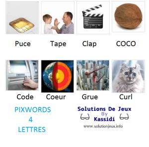 Pixwords solutions mots à 4 lettres info 3