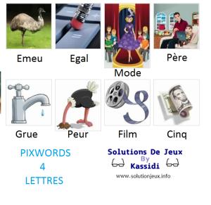 Pixwords solutions mots à 4 lettres info 6