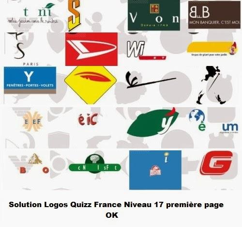 Logos Quizz France niveau 17