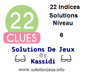 22 indices Niveau 6 Solutions