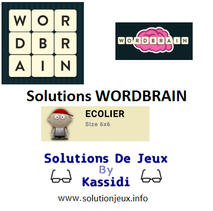 22 wordbrain ecolier solutions
