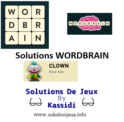 23 wordbrain clown solutions