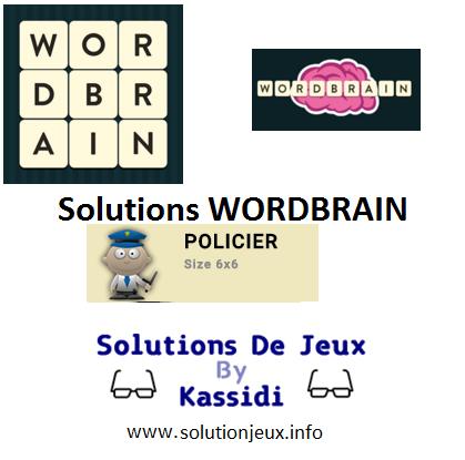 25 wordbrain policier solutions