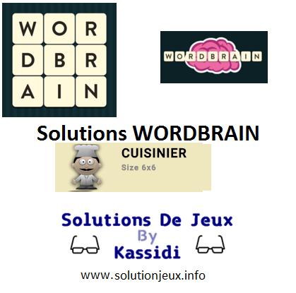 26 wordbrain cuisinier solutions