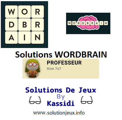 27 wordbrain professeur solutions