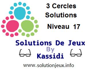 3 cercles niveau 17 solutions