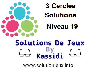 3 cercles niveau 19 solutions