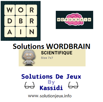 30 wordbrain scientifique solutions