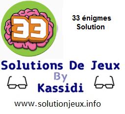 33 énigmes index des solutions par niveau