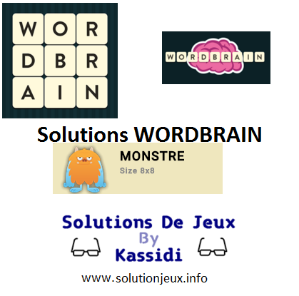 34 wordbrain monstre solutions