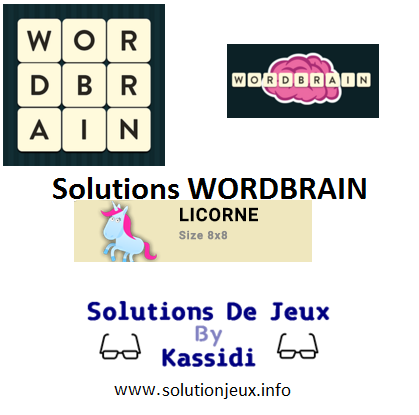 36 wordbrain licorne solutions
