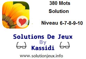 380 Mots niveau 6-7-8-9-10 solution
