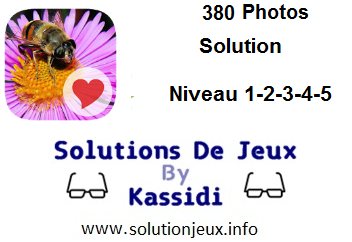 380 Photos niveau 1-2-3-4-5 solution