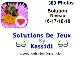 380 Photos niveau 16-17-18-19 solution