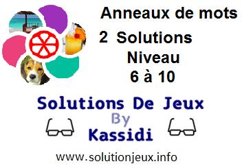 Anneaux de Mots 2 Niveau 6,7,8,9,10 Solutions
