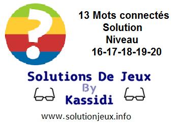 Connect les mots niveau 16-17-18-19-20 solution