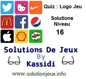 Quiz Logo Jeu Niveau 16 Solutions