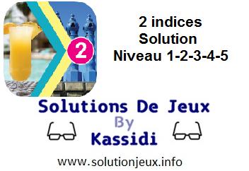 Solution 2 indices niveau 1-2-3-4-5