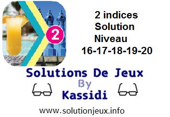 Solution 2 indices niveau 16-17-18-19-20