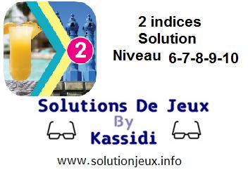 Solution 2 indices niveau 6-7-8-9-10