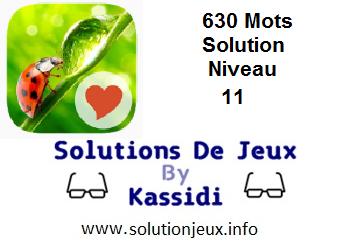 Solution 630 Mots Niveau 11