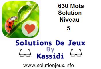 Solution 630 Mots Niveau 5