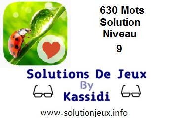 Solution 630 Mots Niveau 9