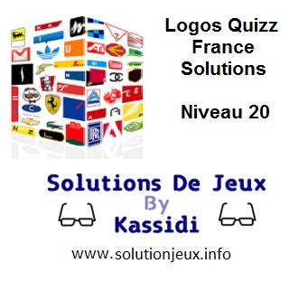 Solution Logos Quizz France Niveau 20