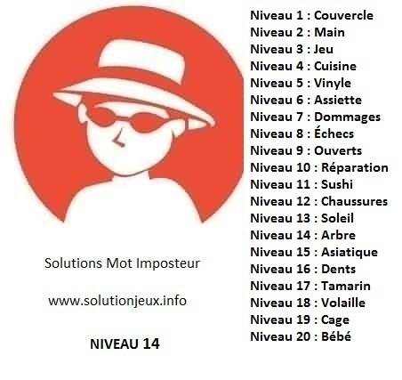 Solution-Mot-Imposteur - Niveau 14