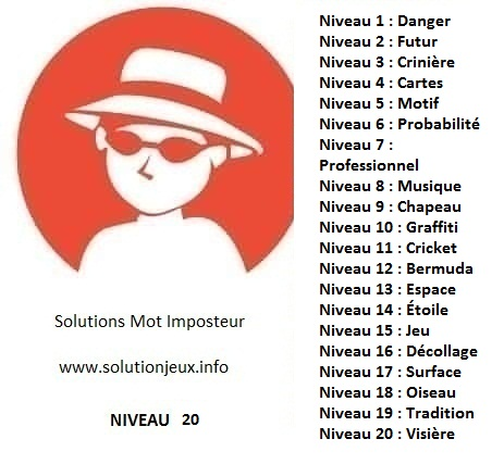 Solution-Mot-Imposteur - Niveau 20
