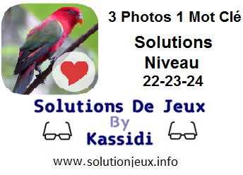 Solutions 3 photos 1 mot clé 22-23-24