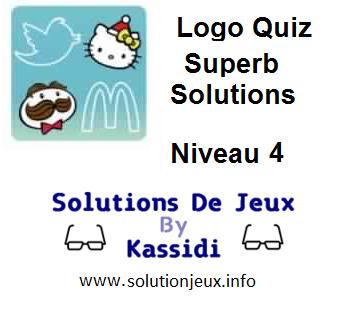Solutions Quiz Logo superbe Niveau 4