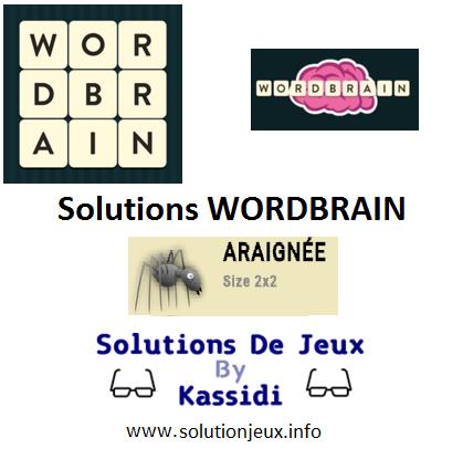wordbrain araignée solutions