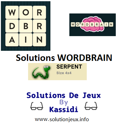 09 wordbrain serpent solutions