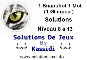 1 glimpse niveau 8-9-10-11-12-13 soluce